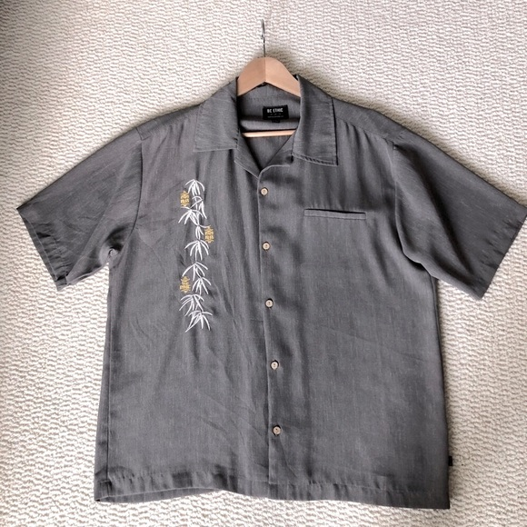 Stylish Tiki Embroidered Shirt by BC Ethic